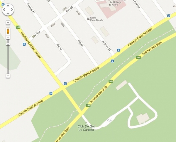 Carte du Boul. Arthur-Sauvé et Avenue des Bois