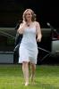 Femme robe blanche